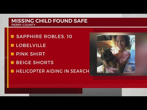 Missing child in Perry County found safe