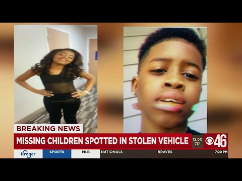 Missing children spotted in stolen vehicle