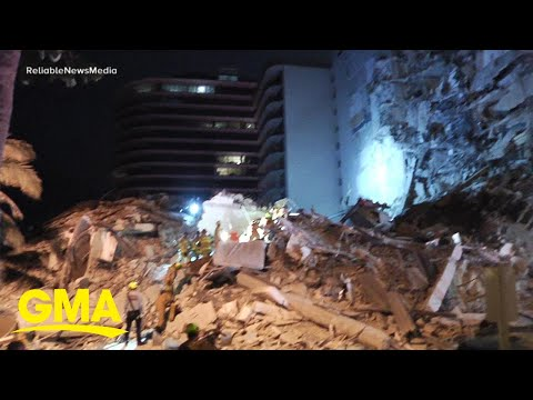 Officials look for missing people after building collapse in Surfside, Florida   GMA