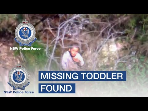 POLAIR describe the moment missing toddler found – NSW Police Force
