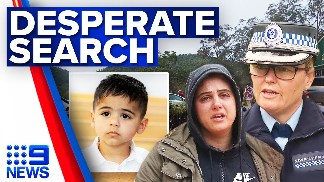 Fears for missing three-year-old boy | 9 News Australia