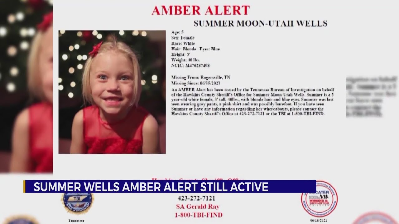 TBI: AMBER Alert for Summer Wells will 'remain active until the child is located'