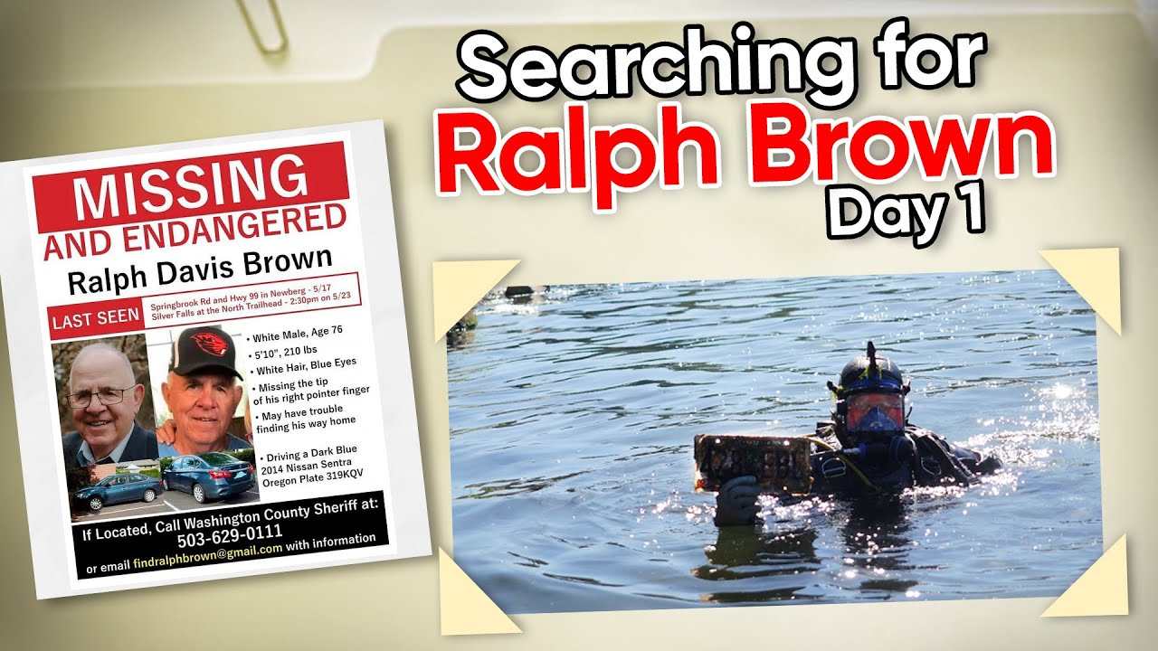 FORMER MAYOR MISSING: Ralph Davis Brown (Day 1) Underwater Missing Person Search