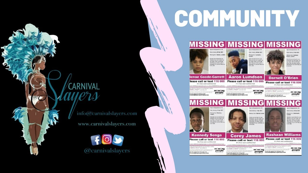 WHY IS THIS NOT ON THE NEWS – Missing Black Children In London