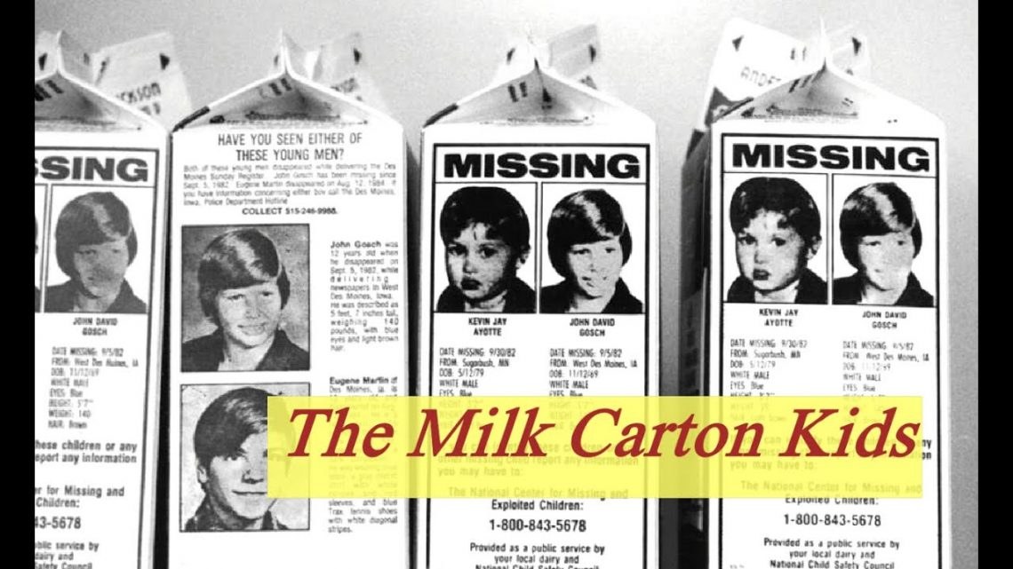 The Milk Carton Kids of the 1980's to 1990's #ColdCases #Missing #Kidnapped