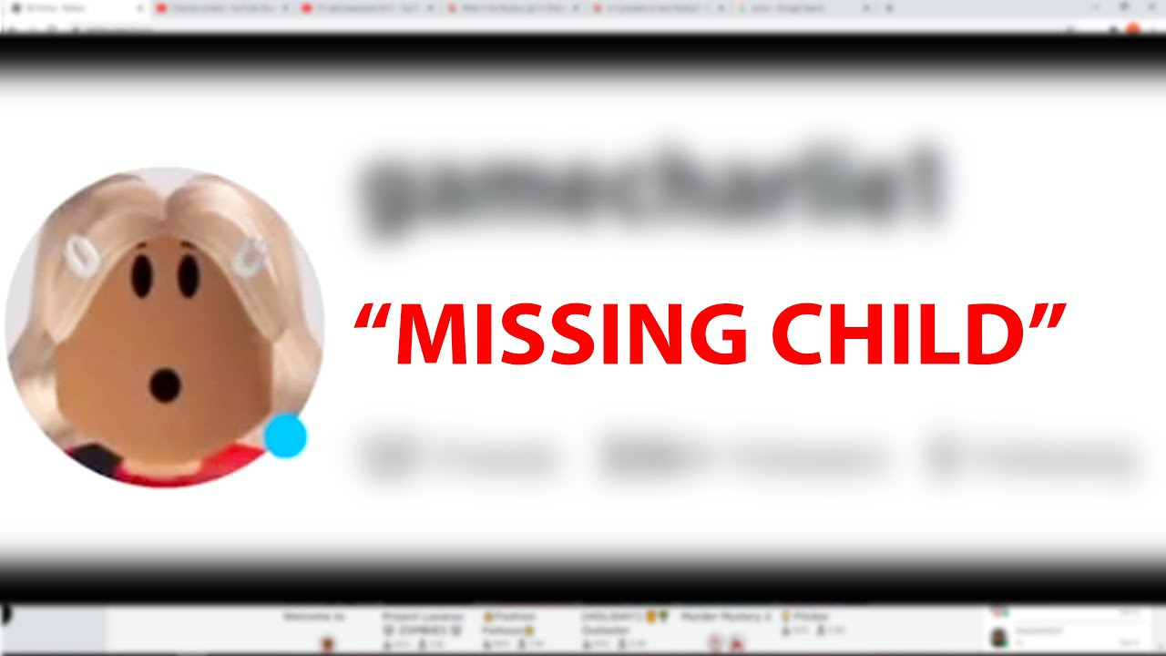Real Life Missing Child KIDNAPPED in Roblox?! | gamecharlie1 Creepypasta