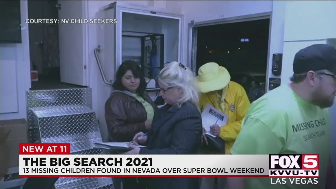Nevada Child Seekers help locate 13 missing children during 'Big Search' campaign