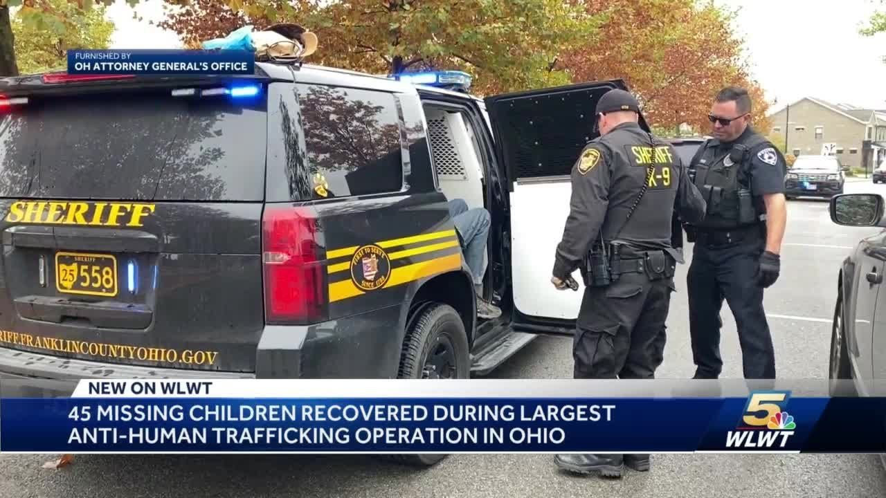 45 missing children recovered during largest statewide anti-human trafficking operation in Ohio