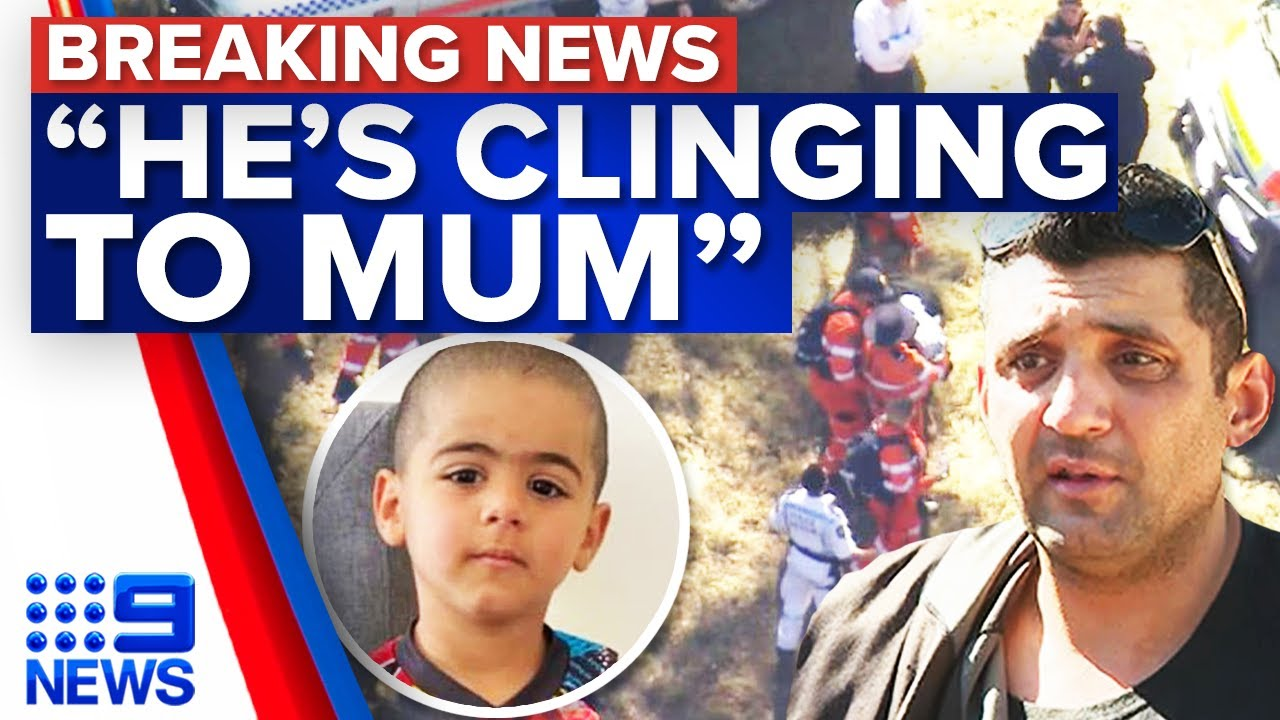 Missing toddler's father overjoyed son has been found | 9 News Australia