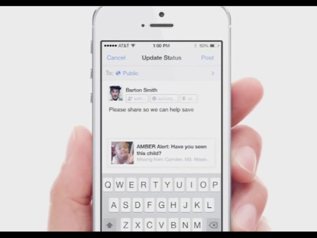 Facebook to launch amber alert system