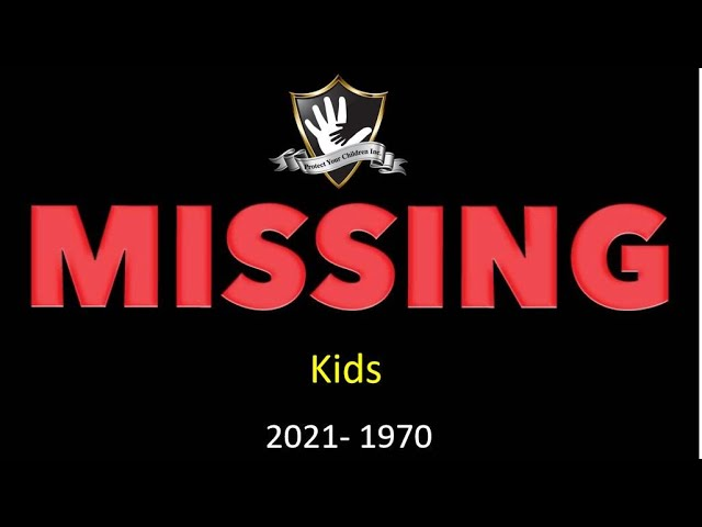Please watch! Missing kids from 1970-2021 you may be the key to bringing one home!