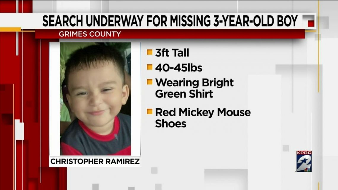 Search underway for missing 3-year-old boy