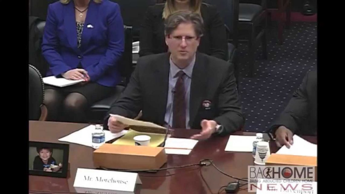 Jeffery Morehouse Testifying to U.S. Congress on Kidnappings to Japan