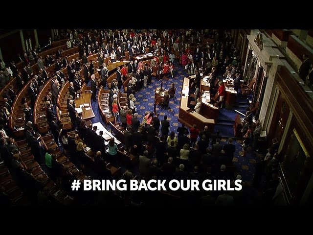 U.S. House observes moment of silence for victims of Boko Haram kidnappings #BringBackOurGirls